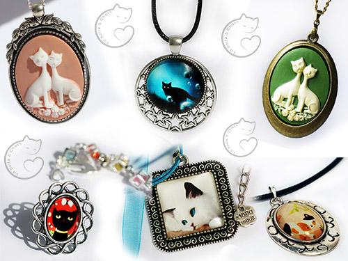 Des bijoux chats personnalisés dans la boutique de la Boîte à Chats